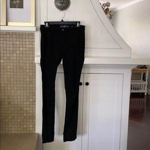 Hollister, mid rise, super skinny, black jeans